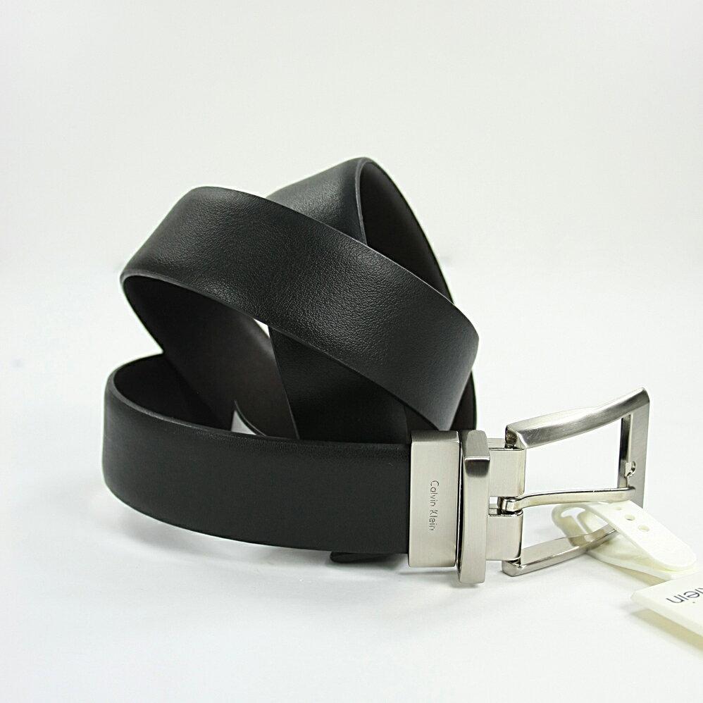 美國百分百【Calvin Klein】CK 男 真皮 皮帶 兩用 腰帶 2way 黑色 咖啡 霧面皮帶頭 配件 38 40腰 F770