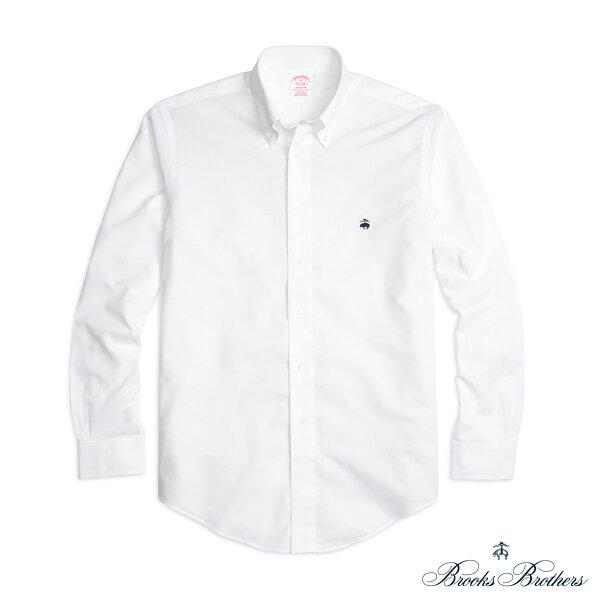 美國百分百:美國百分百【全新真品】BrooksBrothers布克兄弟牛津襯衫長袖休閒上衣白色S號F772