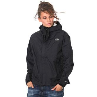 美國百分百【The North Face】防風 連帽 外套 TNF 保暖 夾克 兩件式 北臉 黑色 XS號 女 F786
