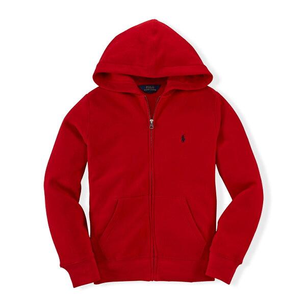 美國百分百【全新真品】Ralph Lauren RL 連帽 薄外套 棉 帽T 夾克 紅色 POLO S號 B038