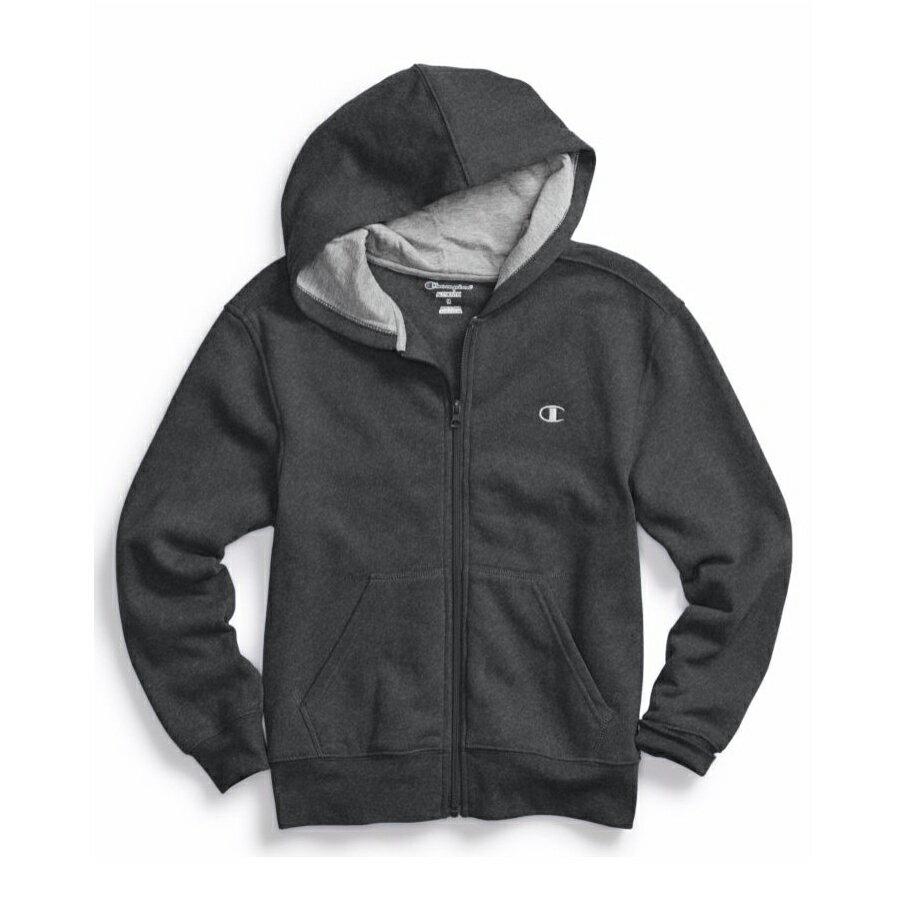 美國百分百【全新真品】Champion 冠軍 棉質 連帽 外套 長袖 刷毛 上衣 灰色 XS S號 C821