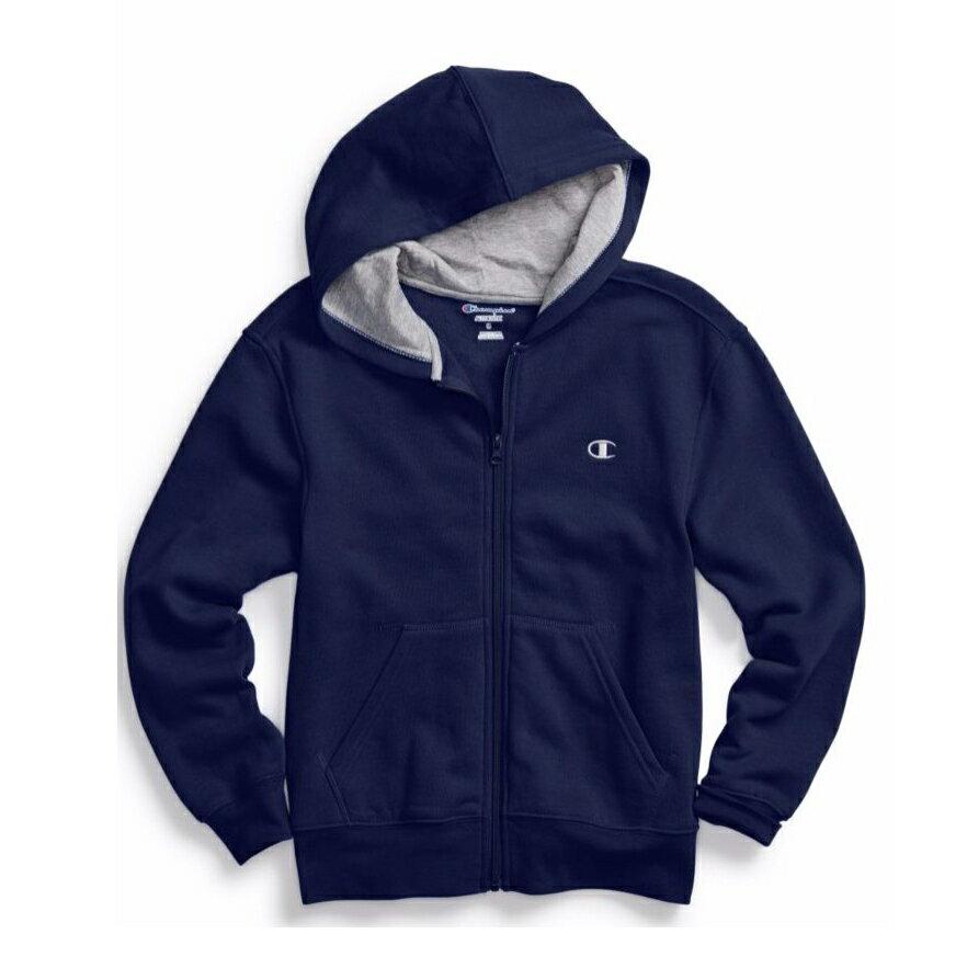 美國百分百【全新真品】Champion 冠軍 棉質 連帽 外套 長袖 刷毛 上衣 深藍 S號 C821