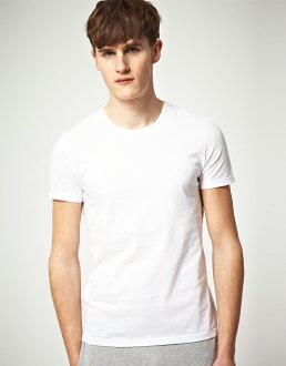 美國百分百【全新真品】Emporio Armani T恤 男 短袖 logo T-shirt EA 素面 白色 S號 F550