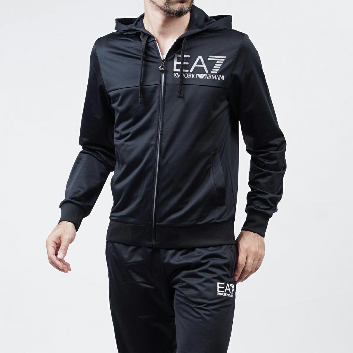 美國百分百【全新真品】Emporio Armani 外套 連帽 夾克 EA7 尼龍 運動 深藍 S號 F825