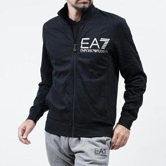 美國百分百【全新真品】Emporio Armani 外套 立領 夾克 EA7 棉質 運動 黑色 XS S號 F826