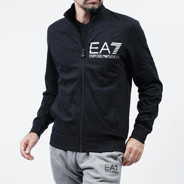 美國百分百:美國百分百【全新真品】EmporioArmani外套立領夾克EA7棉質運動黑色XSS號F826
