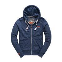 極度乾燥商品推薦到美國百分百【全新真品】Superdry 極度乾燥 連帽 外套 夾克 帽T 刷毛 拉鍊 經典款 藏藍色 S M L號 F842就在美國百分百推薦極度乾燥商品