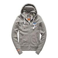 極度乾燥商品推薦到美國百分百【全新真品】Superdry 極度乾燥 連帽 外套 夾克 帽T 刷毛 拉鍊 經典款 灰色 L XL號 F842就在美國百分百推薦極度乾燥商品