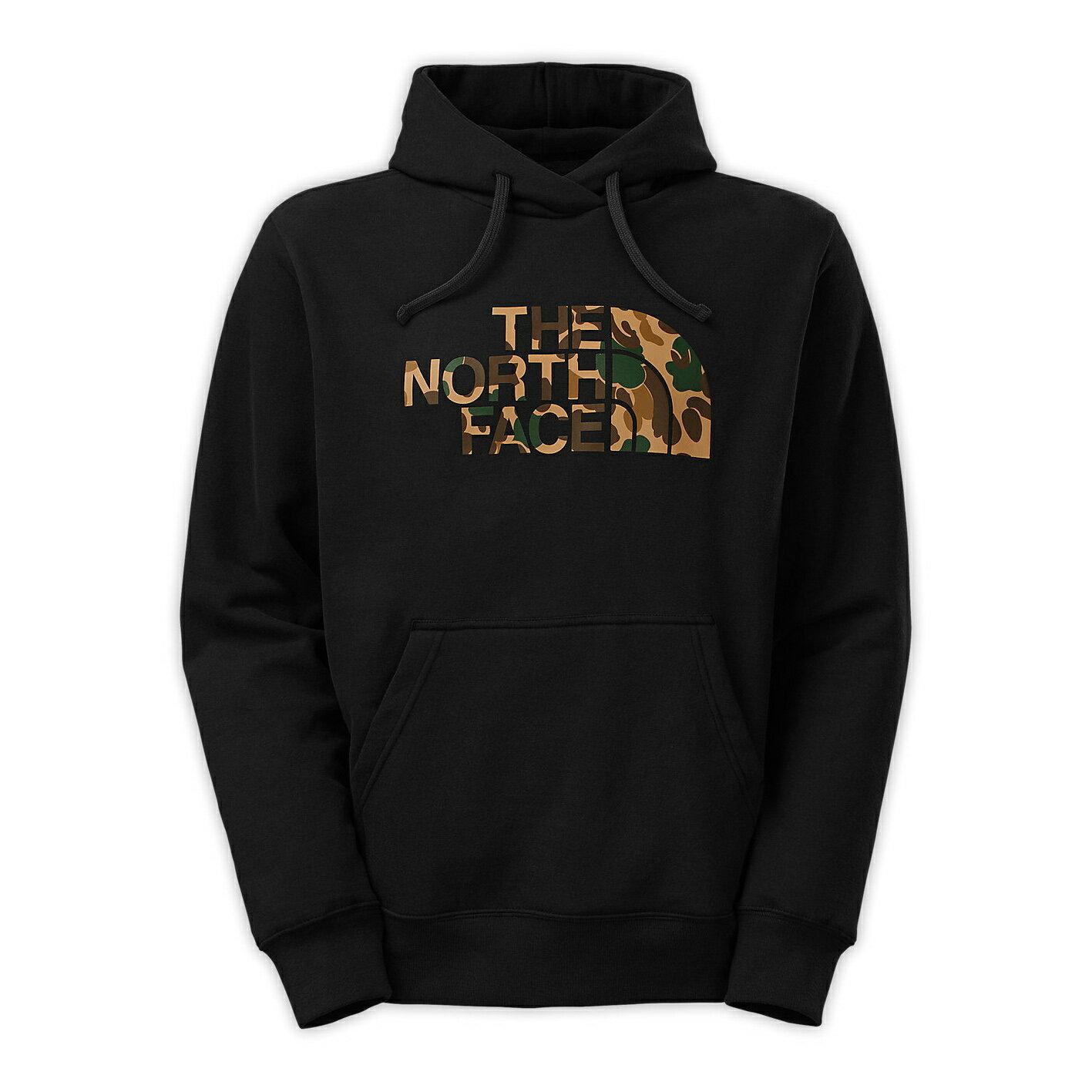 美國百分百【The North Face】帽T 連帽 TNF T恤 北臉 長袖 厚綿 迷彩 黑色 大尺碼 M XXXL號 F841