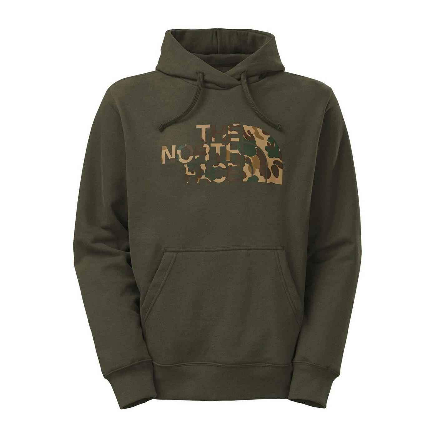 美國百分百【The North Face】帽T 連帽 TNF T恤 北臉 長袖 厚綿 迷彩 軍綠色 大尺碼 S L XL號 F841