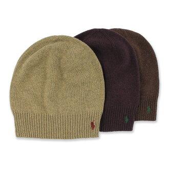 美國百分百【Ralph Lauren】帽子 RL 針織 毛帽 Polo 小馬 美麗諾羊毛 卡其 酒紅 咖啡 B556