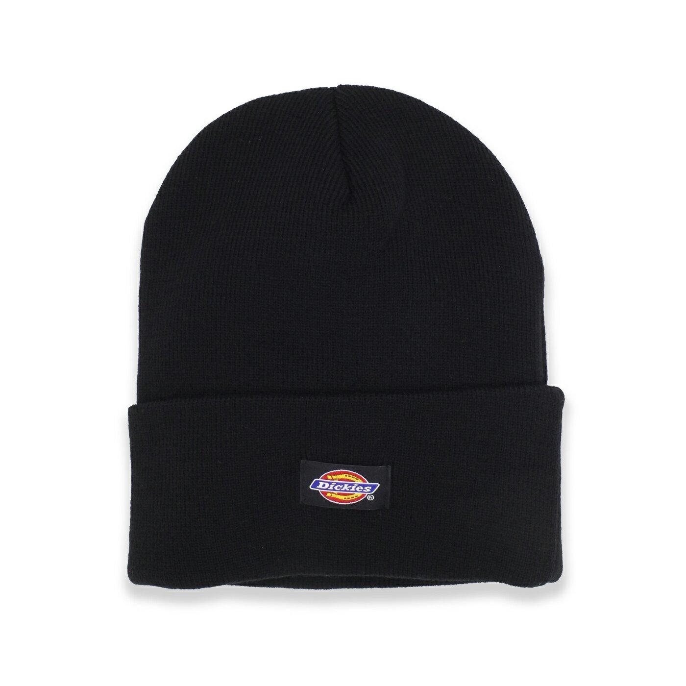 美國百分百【全新真品】Dickies 帽子 配件 針織帽 毛帽 素面 反折 漁夫帽 街頭 潮牌 男 女 黑色 F992