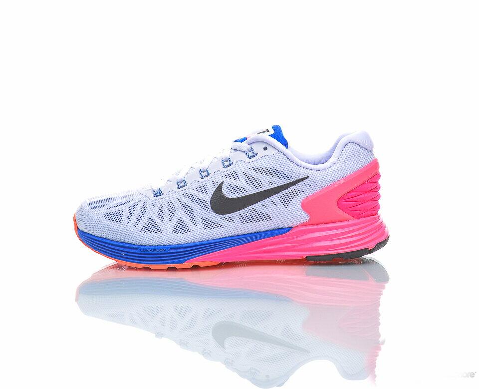 美国百分百【全新真品】Nike LunarGlide 6 耐吉 鞋子 慢跑鞋 运动鞋 轻量吸震 女鞋 7.5号 G029