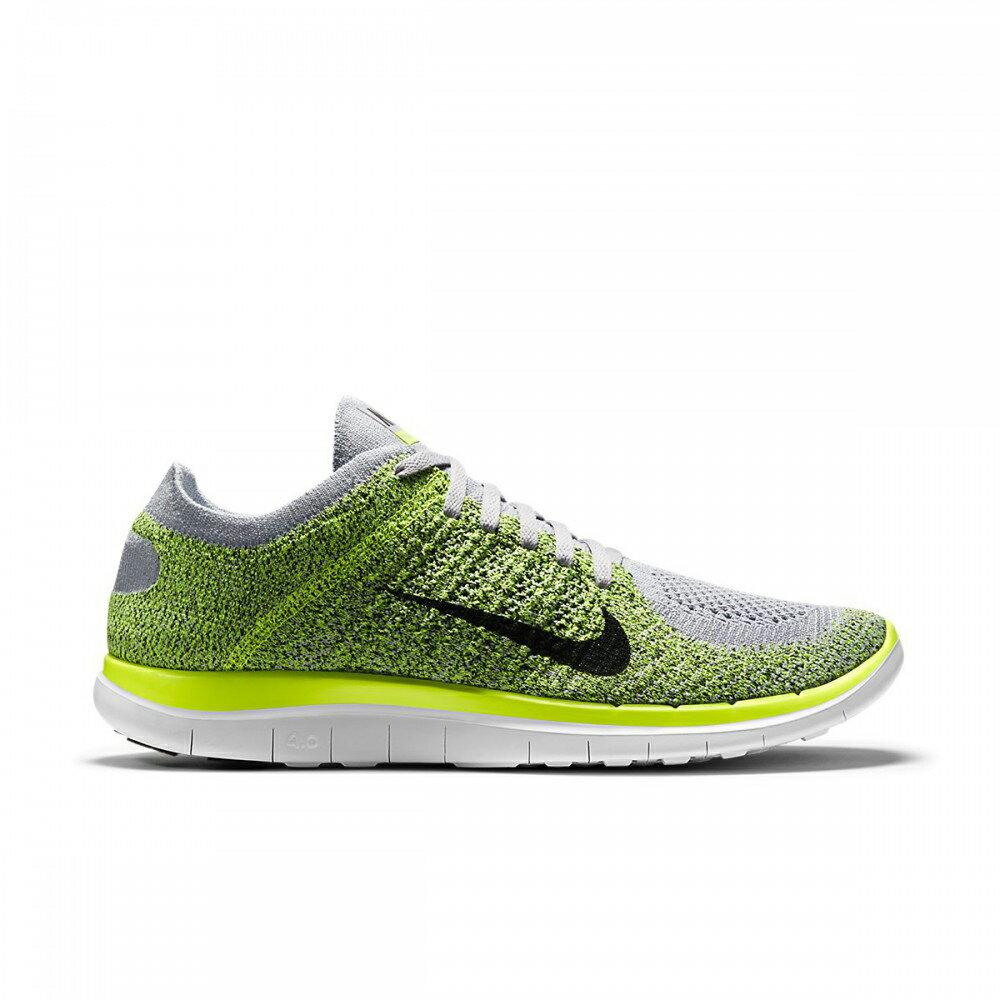 美國百分百【Nike】Free 4.0 Flyknit 耐吉 鞋子 慢跑鞋 運動鞋 球鞋 編織 螢光灰綠 男款 US 10、10.5、11號 G030