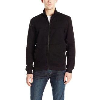 美國百分百【全新真品】Calvin Klein 外套 CK 夾克 立領 騎士 棉質 修身 黑色 S M L號 G039