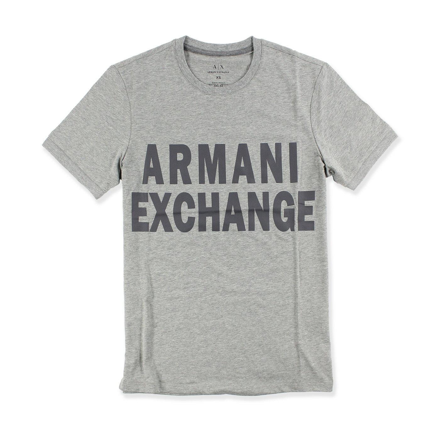 美國百分百【Armani Exchange】T恤 AX 短袖 logo 上衣 T-shirt 束口 M L 灰 G060