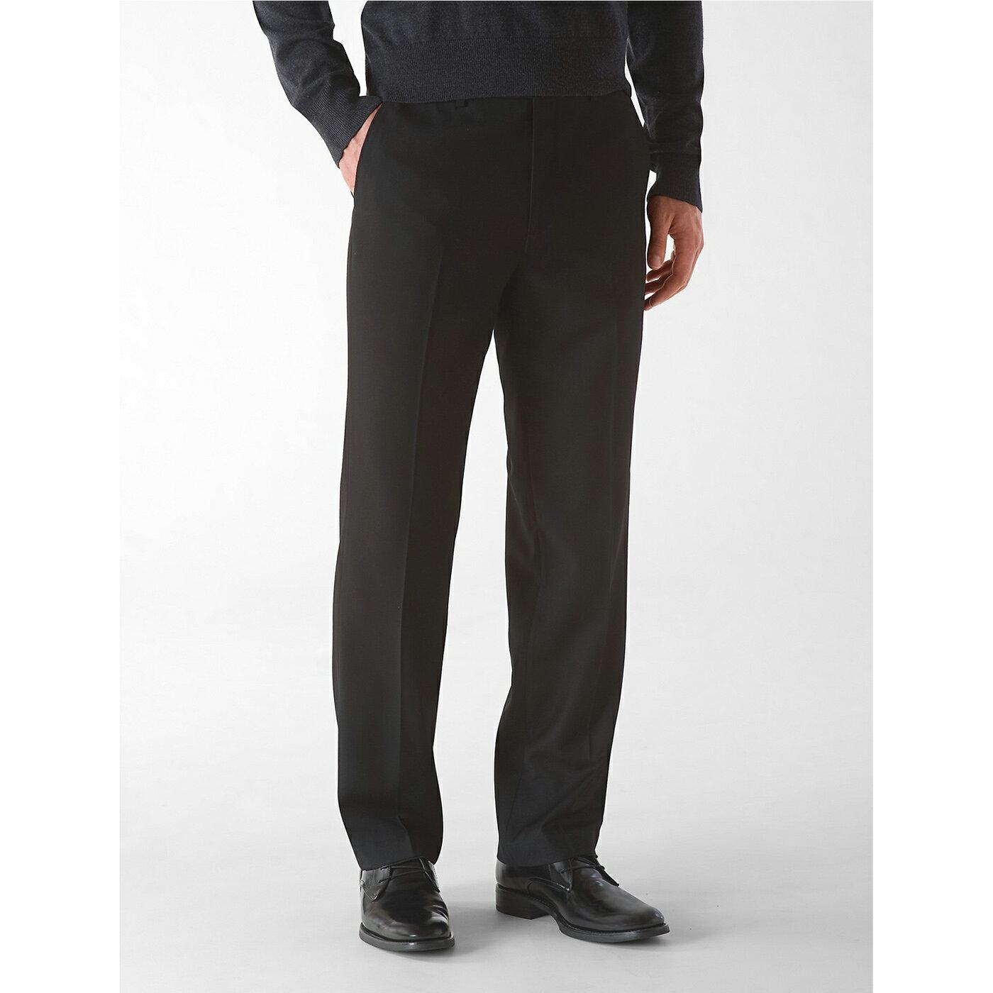 美國百分百【全新真品】Calvin Klein 西裝褲 CK 長褲 褲子 直筒 classic 黑色 30腰 G072