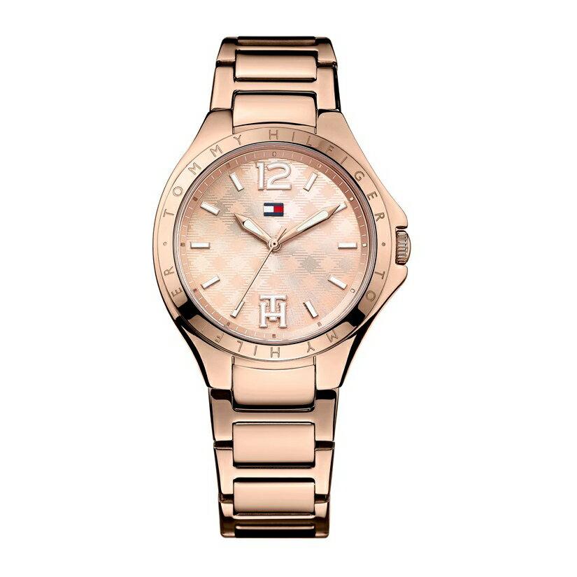 美國百分百【全新真品】Tommy Hilfiger 配件 手錶 TH 腕錶 石英 不 鋼 金屬 女錶 玫瑰金 G105