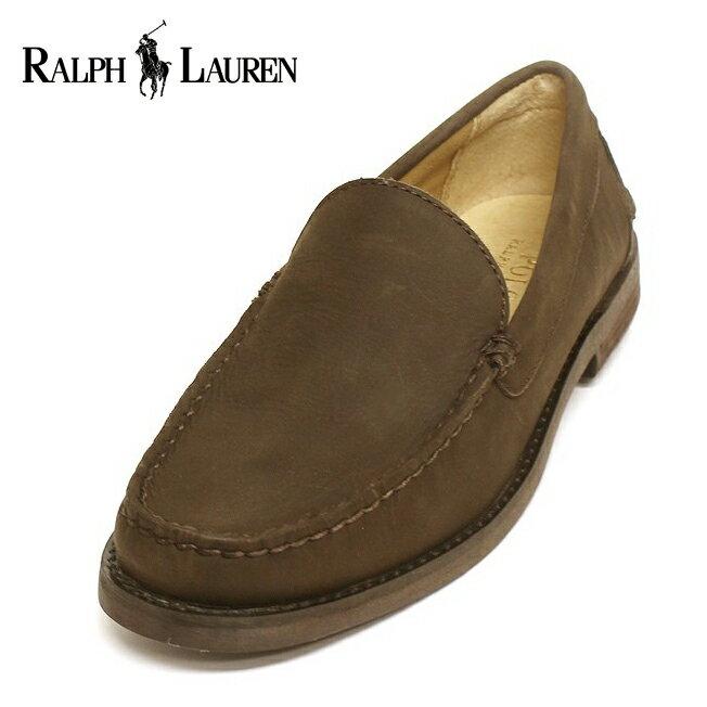 美國百分百【Ralph Lauren】鞋子 RL 麂皮 休閒鞋 樂福鞋 Loafer 皮鞋 男鞋 8.5號 G112