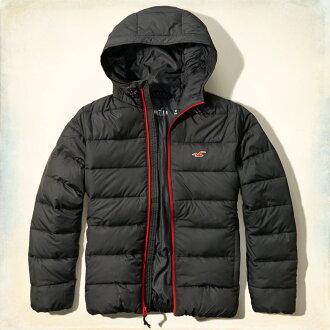美國百分百【Hollister Co.】外套 HCO 中空纖維 保暖 連帽 夾克 海鷗 深灰色 S XL號 G255