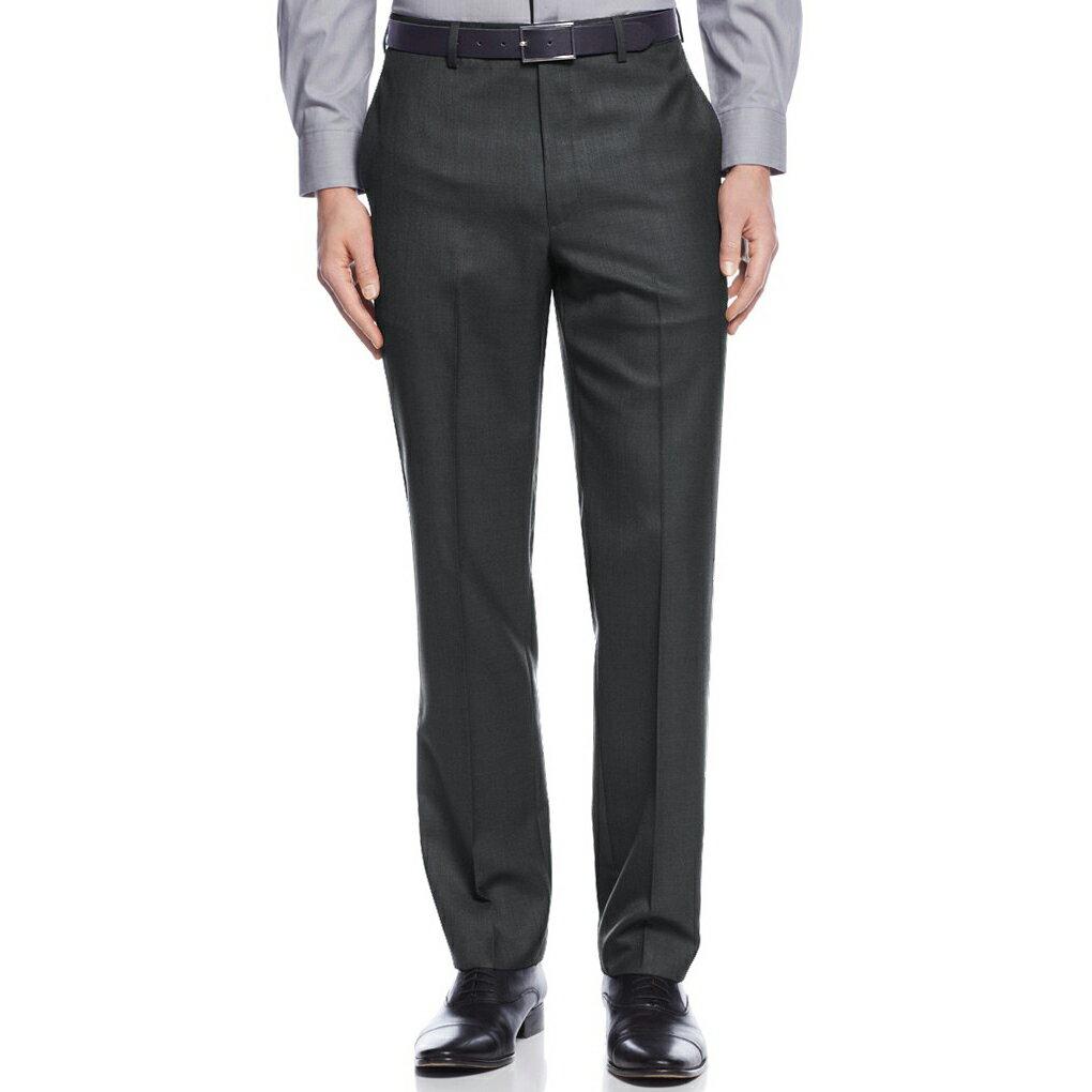 美國百分百【全新真品】Calvin Klein 西裝褲 CK 長褲 褲子 直筒 classic 深灰色 32 34腰 G072