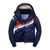 飛行外套推薦到美國百分百【全新真品】Superdry 極度乾燥 羽絨外套 連帽 防風 防潑水 飛行員夾克 深藍 女款 S號 G270就在美國百分百推薦飛行外套