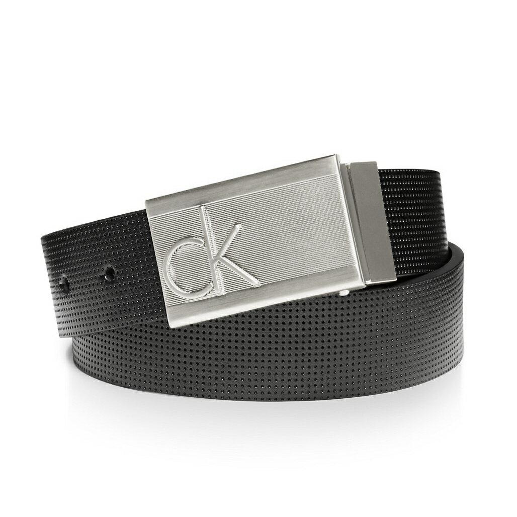 美國百分百【全新真品】Calvin Klein CK 男 真皮 皮帶 兩用 腰帶 2way 黑 logo 32 34 36 38腰 G289