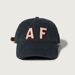 美國百分百【全新真品】Abercrombie & Fitch 帽子 AF 棒球帽 經典 麋鹿 深藍 Logo G358