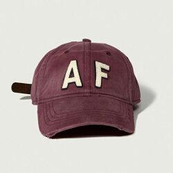 美國百分百【全新真品】Abercrombie & Fitch 帽子 AF 棒球帽 經典 麋鹿 酒紅 Logo G358