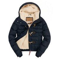 極度乾燥商品推薦到美國百分百【全新真品】Superdry 極度乾燥 風衣 連帽 外套 牛角扣 防風 夾克 刷毛 深藍色 女 G334就在美國百分百推薦極度乾燥商品