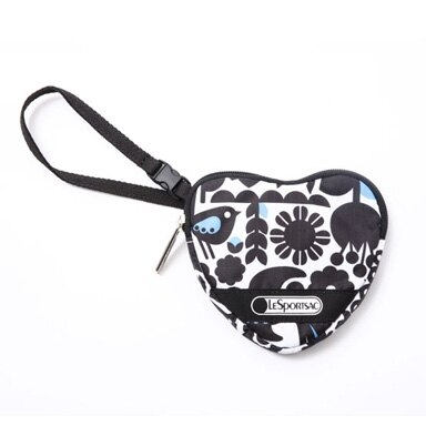 美國百分百【全新真品】Lesportsac 5316 d120 塗鴉愛心包 手拿小包 零錢包 甜美禮物 超取