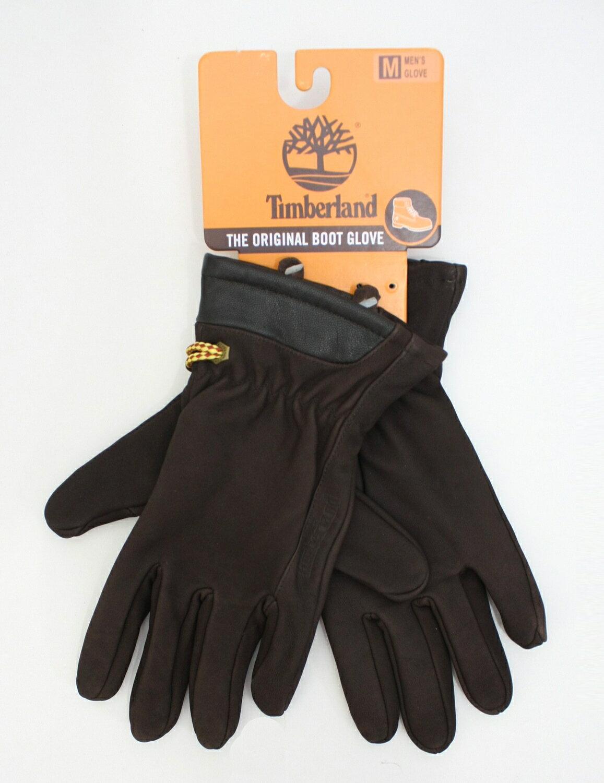 美國百分百【全新真品】Timberland 男 女 騎士風格 深棕色 真皮革 保暖手套 配件 免運 M