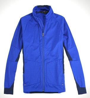 美國百分百【全新真品】Ralph Lauren 男 立領夾克 運動外套 防水風衣 RLX POLO 寶藍 免運 M L