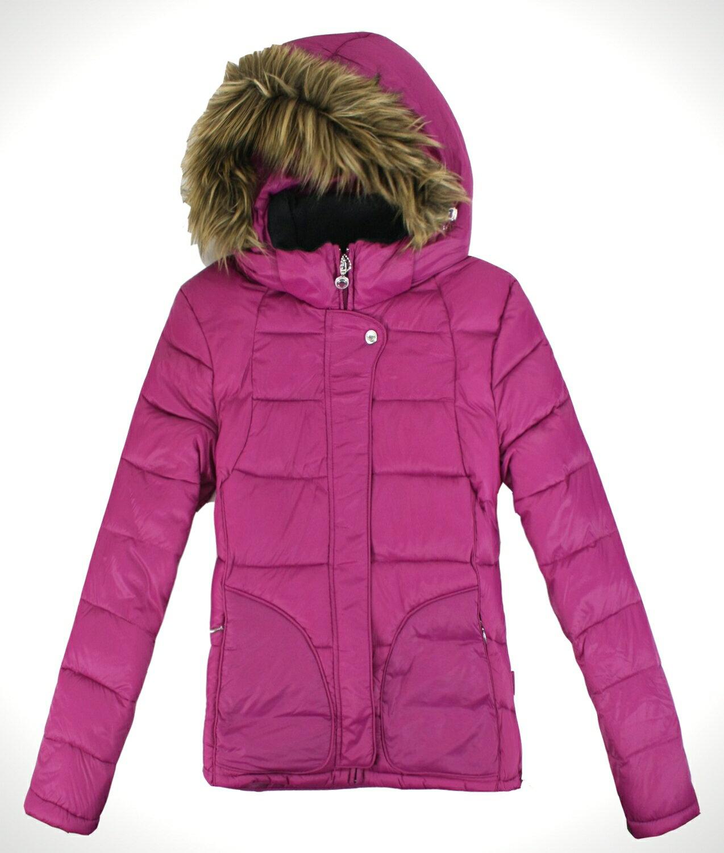 美國百分百【全新真品】Calvin Klein CK女甜心 桃紅輕量 羽絨外套 保暖夾克 防寒外衣 免運 S M