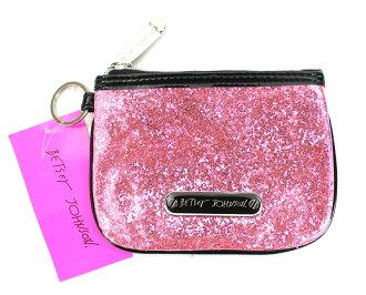 美國百分百【全新真品】Betsey Johnson 女 粉紅亮片 珠光晚宴包 小方包 手拿包 Party配件 特價