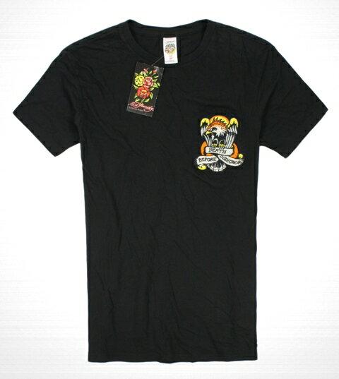 美國百分百【全新真品】ED HARDY 專櫃 男 老鷹 刺青 短袖 黑色 T-shirt 刺繡 Tee 潮牌 T恤 Tee M號