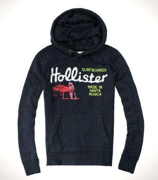 美國百分百【全新真品】Hollister Co. HCO 男 海鷗 深藍 長袖 連帽 套頭 T恤 Tee 外套 S M L號
