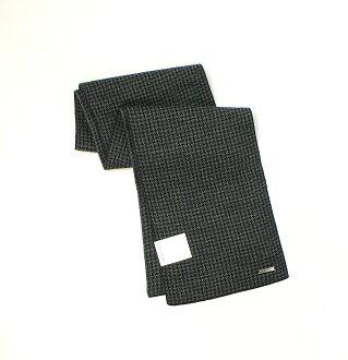 美國百分百【全新真品】Calvin Klein 圍巾 CK 配件 披肩 針織 黑 灰 千鳥格 保暖 鐵Logo 男 女 B503