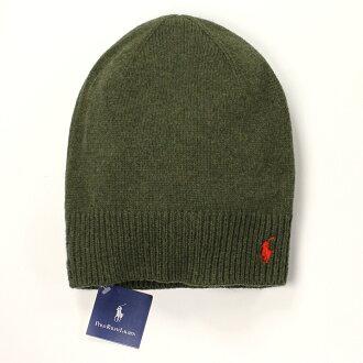 美國百分百【全新真品】Ralph Lauren 帽子 RL 配件 針織 毛帽 Polo 小馬 綠色 羊毛 男 女 B556