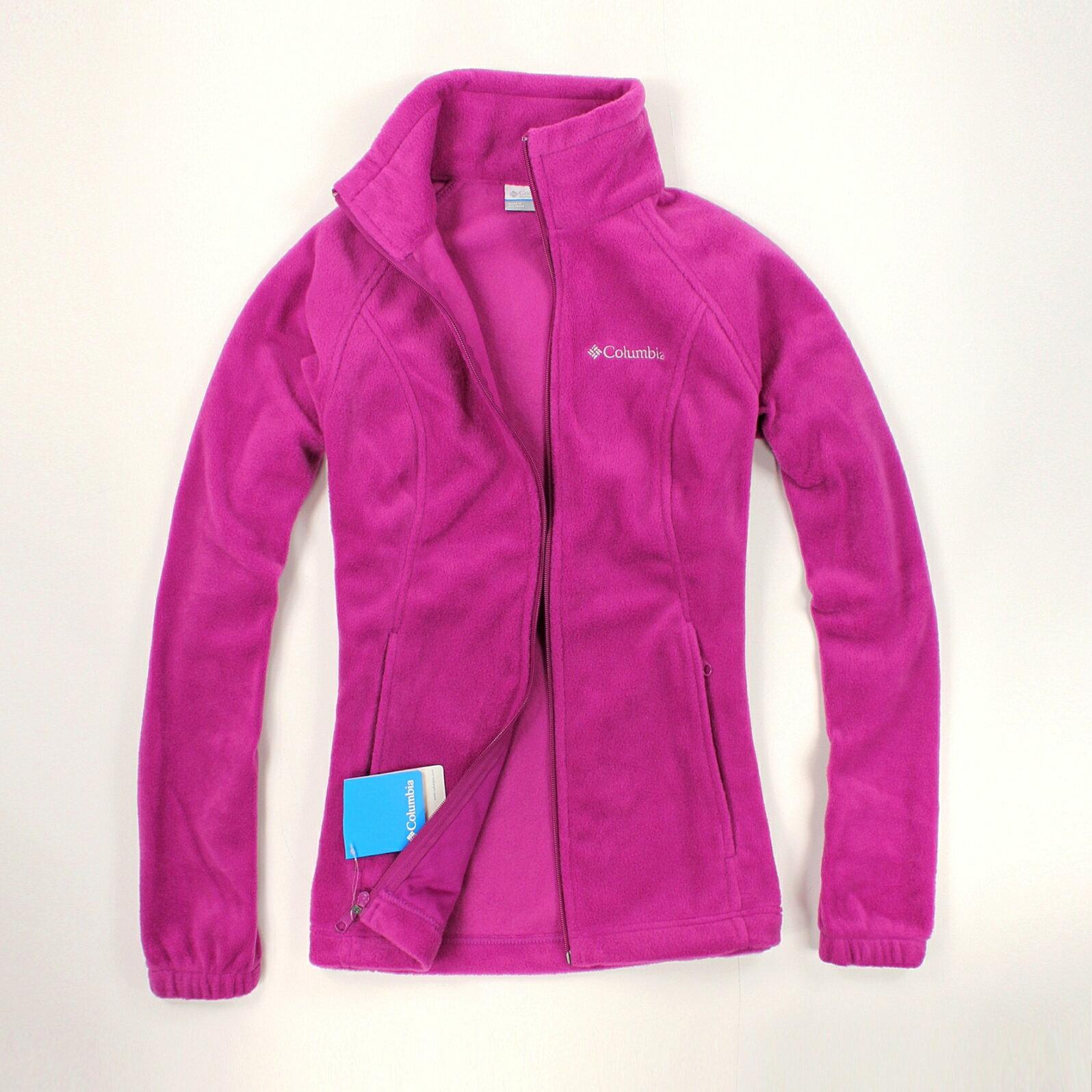 美國百分百【全新真品】Columbia 外套 刷毛外套 輕巧 fleece 保暖 哥倫比亞 紫色 女 S M號 B534