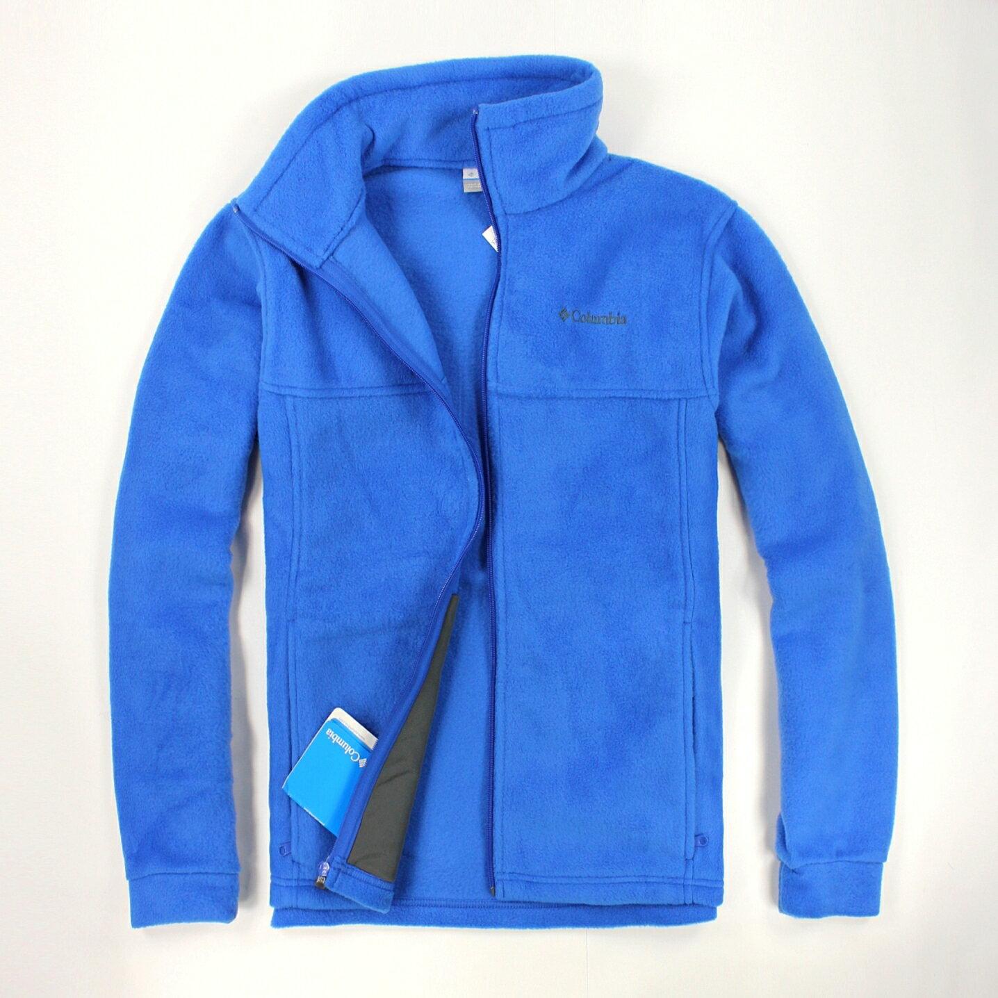 美國百分百【全新真品】Columbia 外套 刷毛外套 輕巧 fleece 保暖 哥倫比亞 寶藍 男 S號 B533