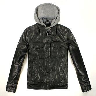 美國百分百【全新真品】Levis 外套 連帽外套 夾克 皮衣 卡車 硬挺 黑色 男衣 厚 多口袋 復古 M L號