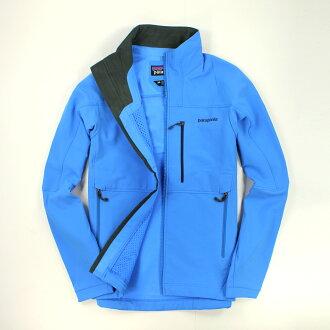 美國百分百【全新真品】Patagonia 外套 薄軟殼 夾克 天藍 防水 擋風 夜跑 透氣 保暖 經典 男衣 XS號
