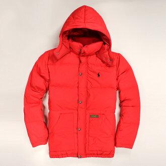 美國百分百【全新真品】Ralph Lauren 外套 RL 羽絨外套 連帽 夾克 Polo 小馬 紅 經典 男 XS S號 A552