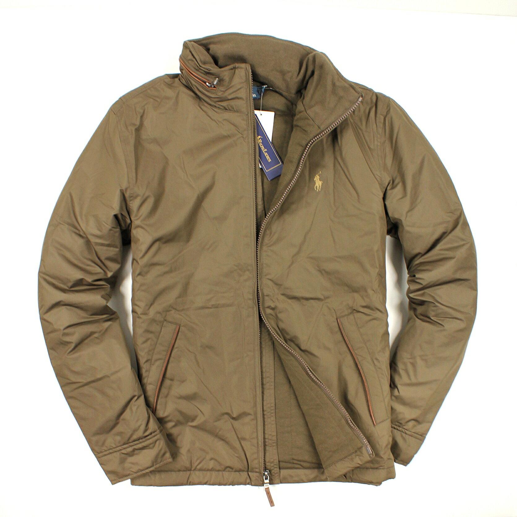 美國百分百【全新真品】Ralph Lauren 外套 RL 鋪棉 連帽 夾克 Polo 小馬 咖啡 純棉 男款 XL B595
