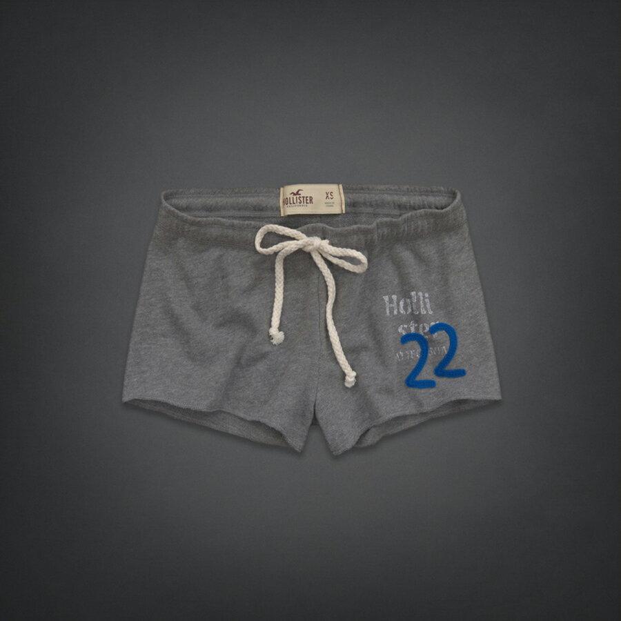 美國百分百【全新真品】Hollister Co. 褲子 HCO 短褲 休閒褲 海鷗 灰色 棉褲 睡褲 居家 女褲 S號