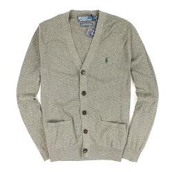 美國百分百【全新真品】Ralph Lauren 外套 RL 罩衫 針織 Polo 小馬 灰 口袋 大尺 男 M L C080