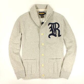 美國百分百【全新真品】Ralph Lauren 外套 RL 夾克 立領 Polo 小馬 灰 Rugby 特殊領 男 S M號 B535