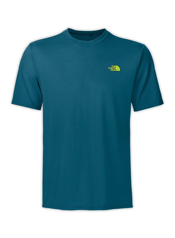 美國百分百【全新真品】The North Face T恤 TNF 短袖 T-shirt 上衣 北臉 藍綠 素面 排汗 男衣 M號
