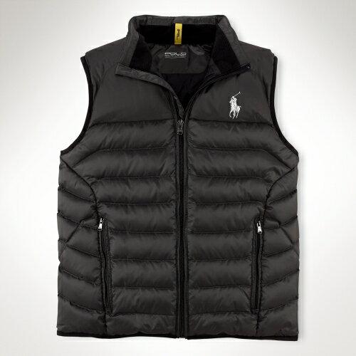 美國百分百【全新真品】Ralph Lauren 背心 RL 上衣 羽絨 Polo 大馬 黑 雙口袋 立體 防風 男衣 S號